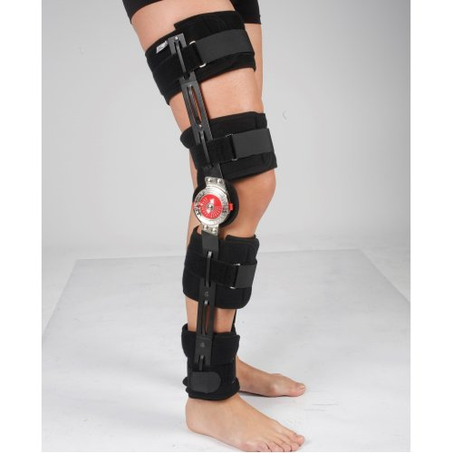 ROM Adjustable Knee Brace - Post Op Hinged - Universal Leg Size