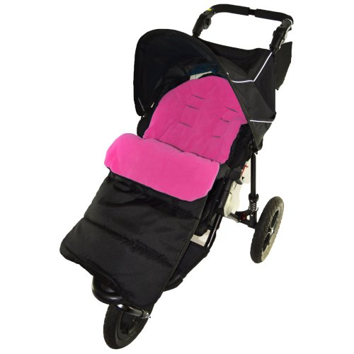 Footmuff / Cosy Toes Compatible with Mountain Buugy Mini Pushchair Pink Rose