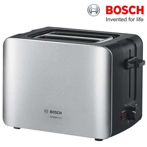 Bosch TAT6A913GB ComfortLine 2-Slice Toaster 1090W Silver / Stainless Steel