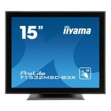 "iiyama ProLite T1532MSC-B3X 15"" 1024 x 768pixels Multi-touch Tabletop Black touch screen monitor"