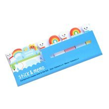 Set of 4 Lovely Sticky Note Pads Memo Pad Stick Marker Pads Blue