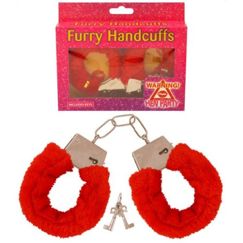 Red Fluffy Handcuffs