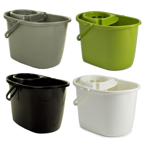 14L Plastic Mop Bucket With Wringer Strong Cleaning Bucket