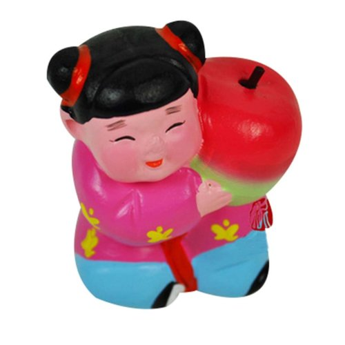 2Pcs Personalized Home Decoration Chinese Clay Doll Clay Ornaments Creative