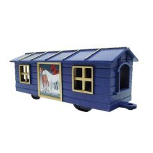 2 Pieces Simulation Railway Carriages Toy/Train Car Toy, Blue(14.5*6*5.5CM)
