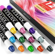 Arteza Temporary Hair Chalk Pens 12 Colors Washable Hair Colors for Kids Teens and Adults