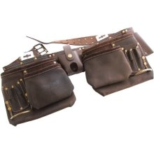 12 Pocket Heavy Duty Leather Tool Belt -  leather heavy duty tool belt 12 pocket amtech oil tanned 12pocket