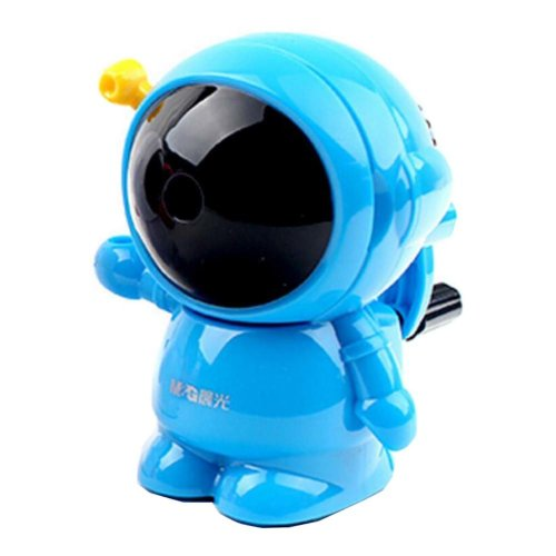Astronaut Style Plastic Manual Pencil Sharpener - Blue