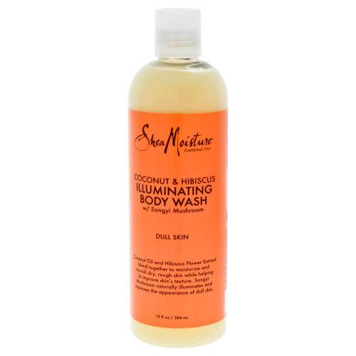 Shea Moisture Coconut & Hibiscus Shea Butter Wash Brightening & Toning - 13 oz Body Wash