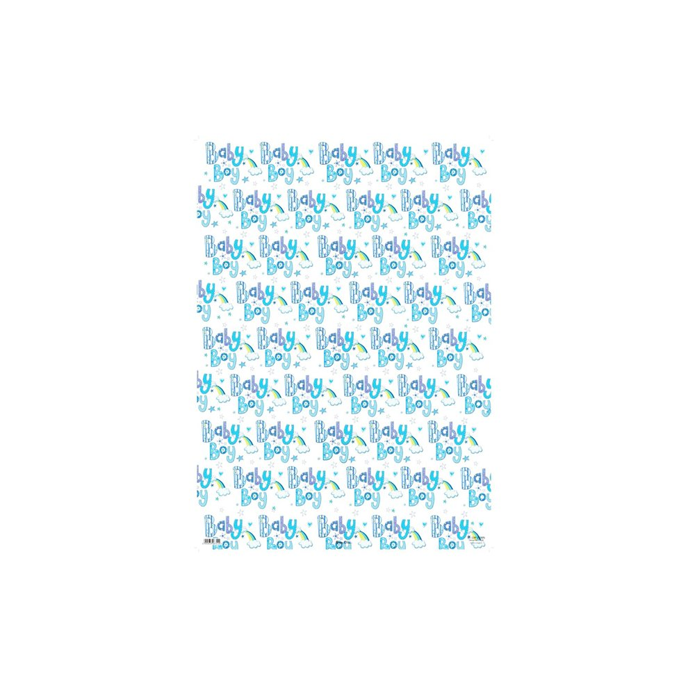 Blue 24 Sheet Baby Boy Gift Wraps Gift Boys Quality Wrapping Paper