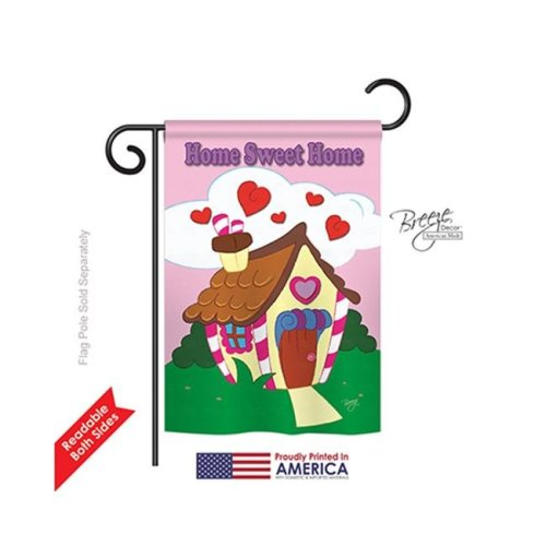 Breeze Decor 50039 Welcome Home Sweet Home 2-Sided Impression Garden Flag - 13 x 18.5 in.