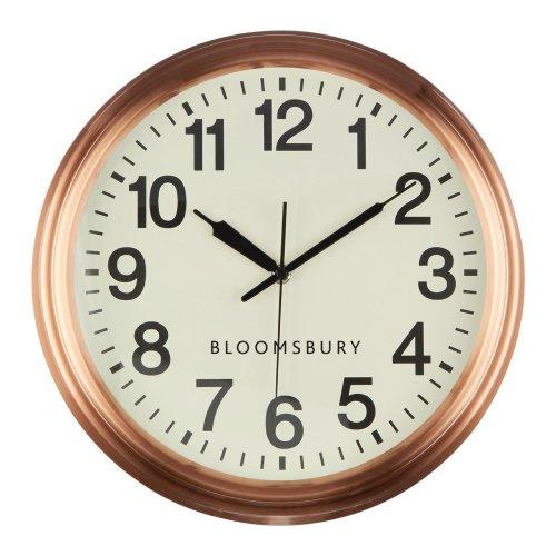 Bloomsbury Wall Clock, Metal - Copper