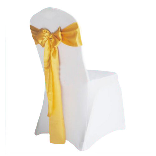 10PCS Wedding Anniversary Ribbon Elegant Chair Cover Bands Decor-Gloden
