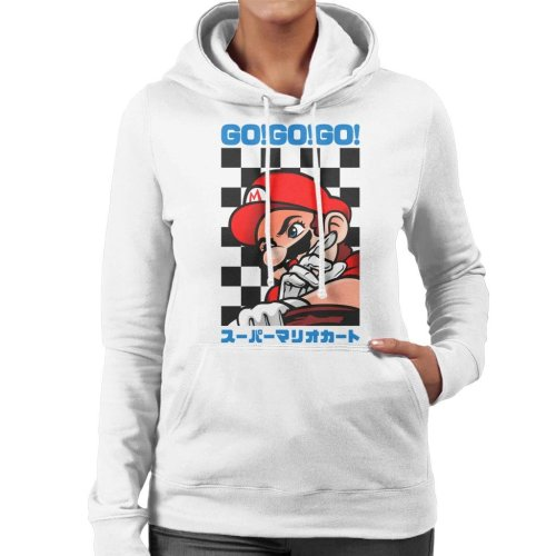 Go Go Go Super Mario Kart Retro Japanese Women's Hooded Sweatshirt