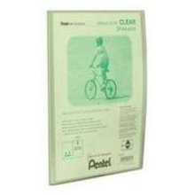 Pentel Display Book Clear Green personal organizer
