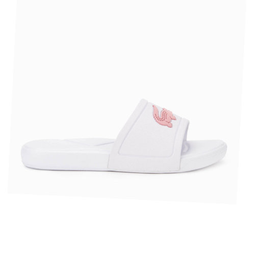 Lacoste L.30 Junior Kids Girls Summer Flip Flop Slide White/Pink