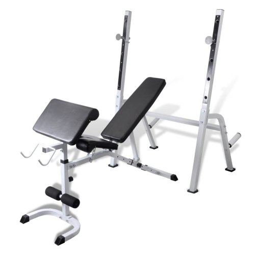 vidaXL Adjustable Fitness Workout Bench Trainer Home Gym Body Arm Back Exercise