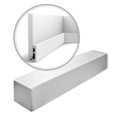 Orac Decor SX157-RAL9003-box AXXENT SQUARE Skirtings 1 Box 32 mouldings | 64 m