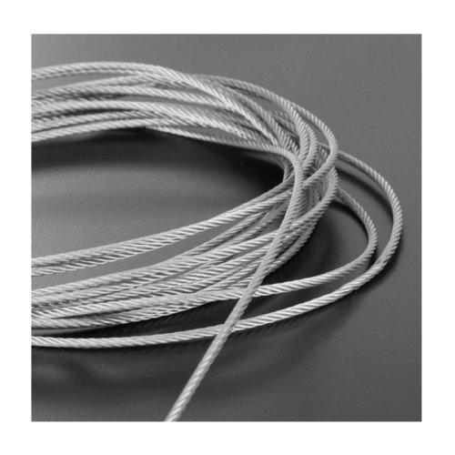 Plastic Coated Steel Wire Rope 3mm x 20 Meters (2mm 1mm Plastic Coating)