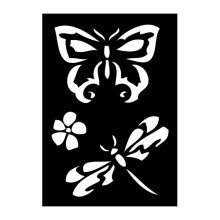 Butterfly & Dragonfly Adhesive Stencil - 70x 100mm Butterfly Dragonfly Reusable Airbrush Paint Flexible Wall Car Stencil
