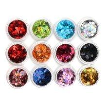12 Colors Nail Art Glitter Dust Powder Sequins Manicure Decoration