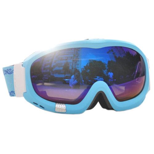 Professional Spherical Lenses Snowboard Ski Goggles Anti-fog Eyewear Sky Bleu