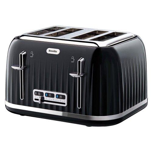 Breville Impressions 4 Slice Toaster Ridged Texture Design - Black (VTT476)