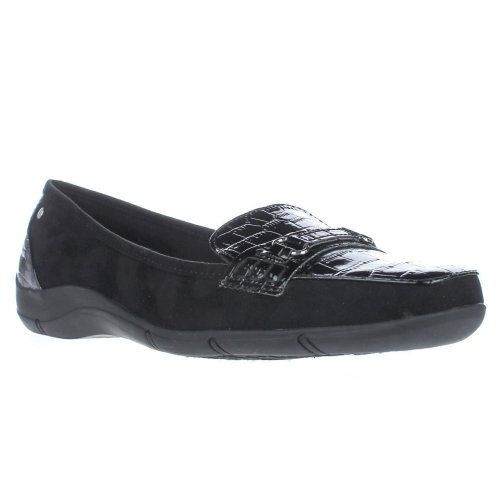 KS35 Jazmin Loafer Flats, Black, 5.5 UK