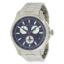 Gucci G-Timeless Stainless Steel Chronograph Mens Watch YA126267