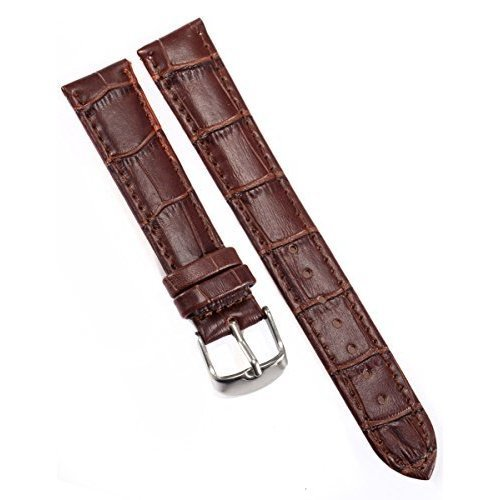 AMPM24 18mm Watch Band Brown Pu Leather Strap Belt