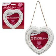 13.5cm Hanging Heart Picture Frame -  heart 135cm frame hanging white photo decoration valentines day weddings picture love shabby chic