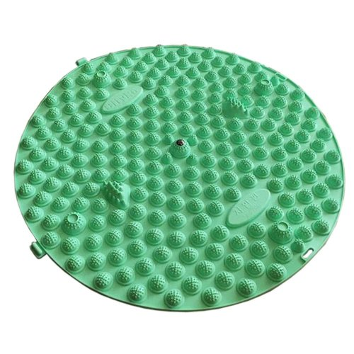 Round Foot Massager Therapy Mat Foot Massage Pad Shiatsu Sheet [Light Green]
