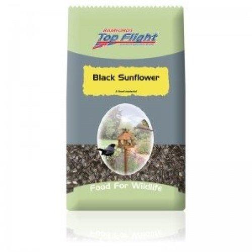 Bamfords Top Flight Black Sunflower Seed 15Kg for Wild Bird Feeding