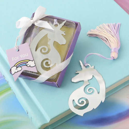 Majestic silver metal Unicorn bookmark