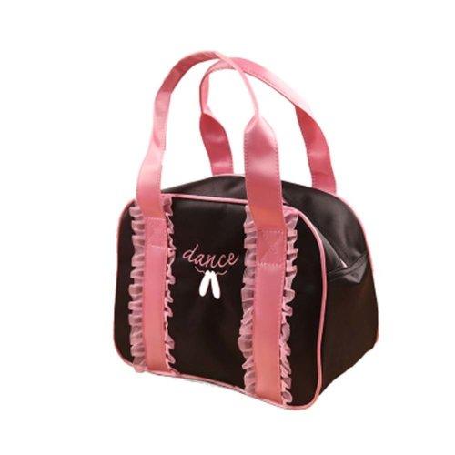 Portable Bag Dance Duffle Bags Girls Dance Bag Sport Travel Bag, Black