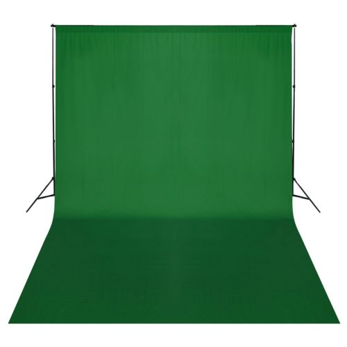 vidaXL Backdrop Support System 500x300cm Green Photography Studio Background