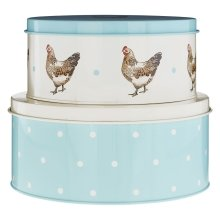 Mrs Henderson Round Cake Tins, Set Of 2