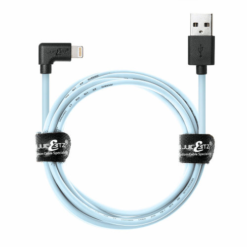 1m 20AWG Apple [MFi Certified] Angled Lightning 8 Pin USB Data Sync Charger Cable - Limited Edition