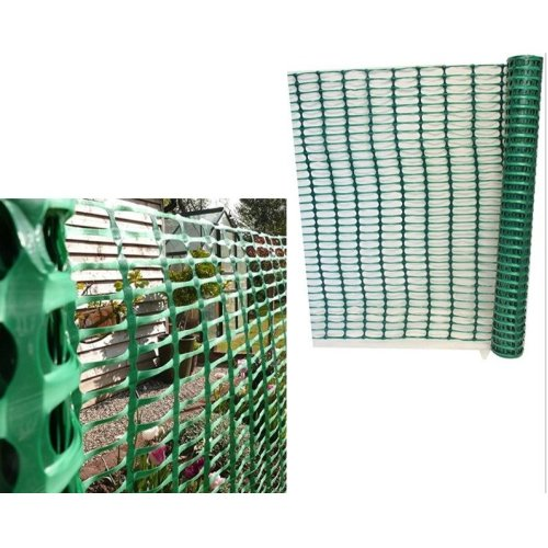 1 x 15m Green Plastic Barrier Mesh Fencing Outdoor Event