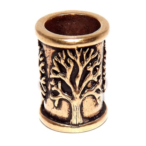 Viking Celtic Beard Bead - Small Bronze Tree of Life
