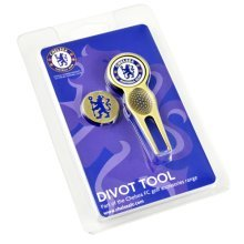 Chelsea Golf Divot Tool And Ball Markers - Marker Fc Foot -  tool divot marker chelsea fc golf ball football