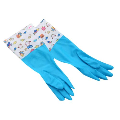 Durable Waterproof Gloves Laundry Gloves Cleaning Gloves Kitchen Rubber Gloves
