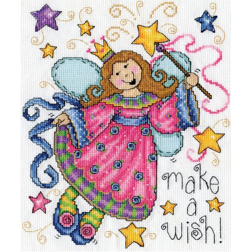 """Design Works Counted Cross Stitch Kit 8""""X10""""-Make A Wish (14 Count)"""