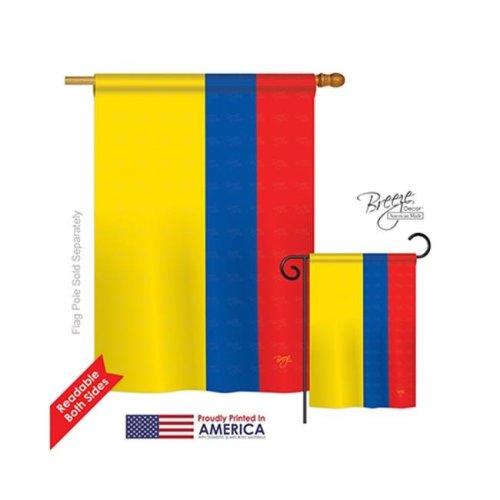 Breeze Decor 08220 Ecuador 2-Sided Vertical Impression House Flag - 28 x 40 in.