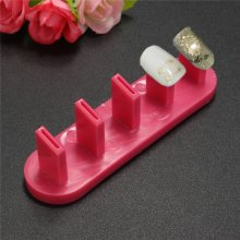 Nail Art Practice Frame Plastic Tips Display Stand Holder Manicure Tools