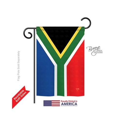 Breeze Decor 58208 South Africa 2-Sided Impression Garden Flag - 13 x 18.5 in.