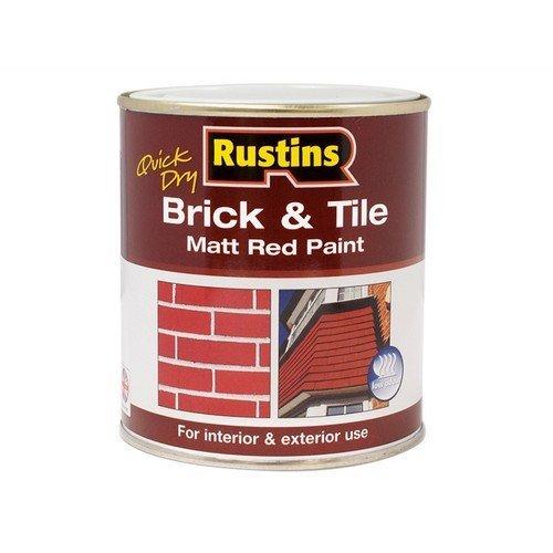Rustins BRITW2500 Quick Dry Brick & Tile Paint Matt Red 2.5 Litre