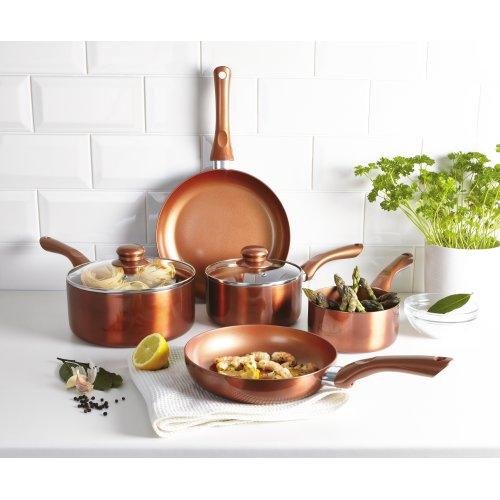 Cermalon Copper 7 PCS Cookware Saucepans and Frying Pan Pot Set