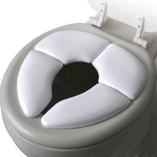 Cushie Traveller Folding Padded Toilet Seat White