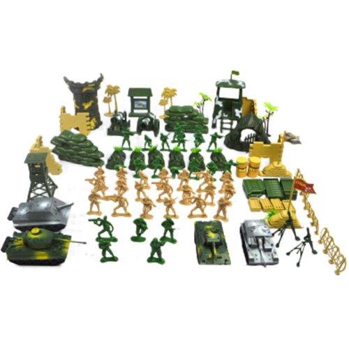 Soldier Scene Models Little Soldier Car Models Children's Toy Gifts - 100PCS